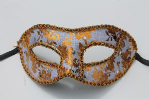 Silver and Gold Mask - Baroque Mask | Masks and Tiaras